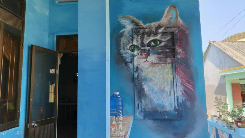 猫のウォールペイント