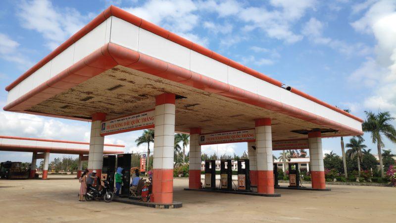 ベトナムのガソリンスタンド