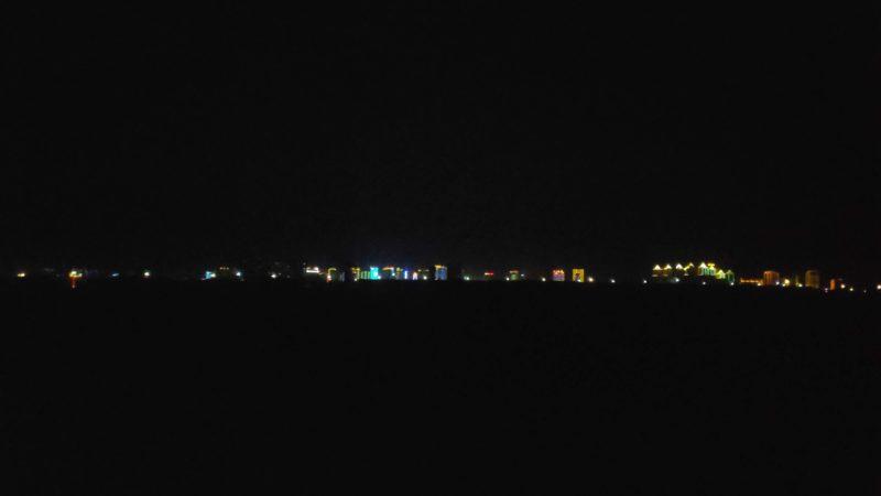 5km程先にあるクイトゥンの夜景