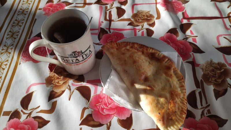 コーヒーと惣菜パン