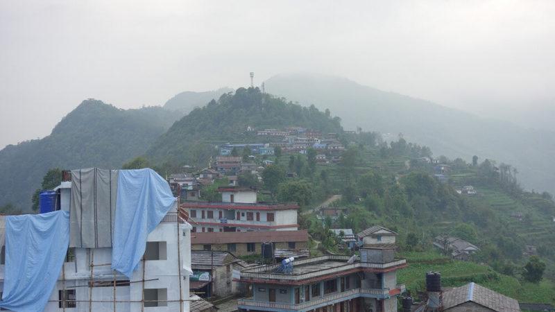 ネパール、ダンプスの眺め