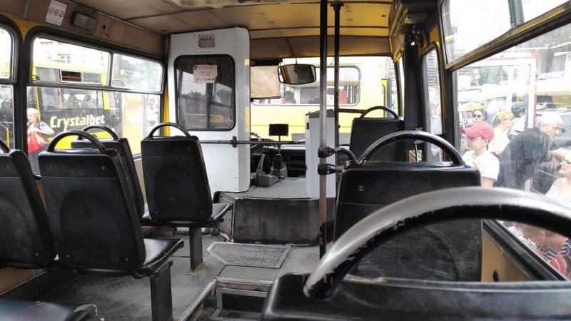 ジョージアのバス車内