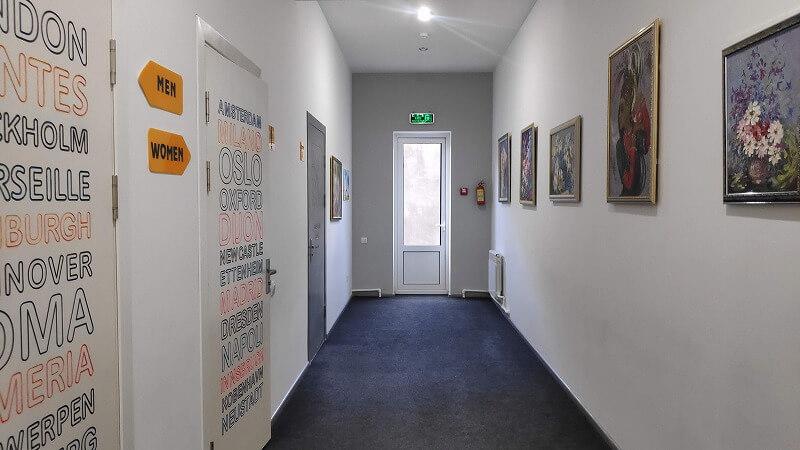 ジュールズヴェルネホステルの廊下