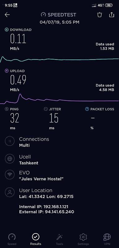jules-verneのネット速度