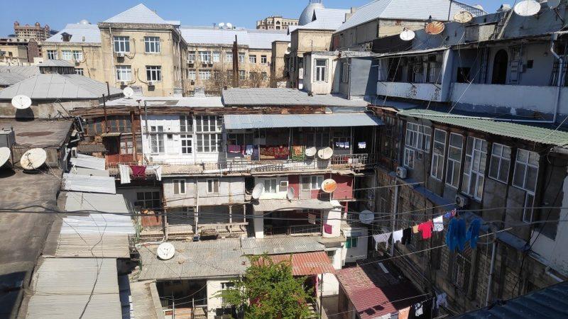 アゼルバイジャンのゲストハウスからの眺め