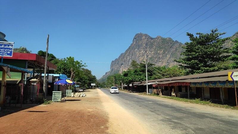 ミャンマー、パアンの街道