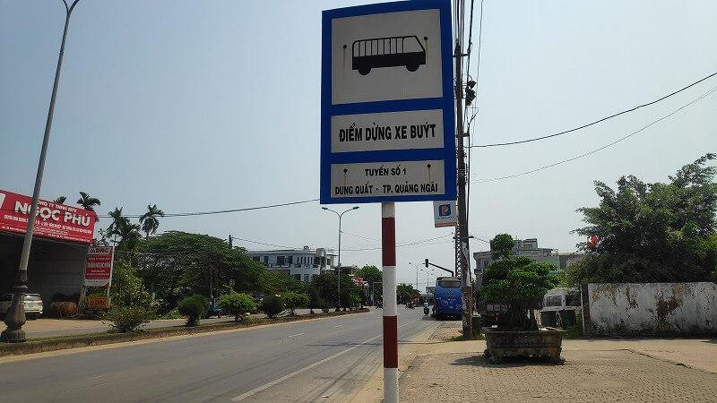 クアンガイのバス降り場