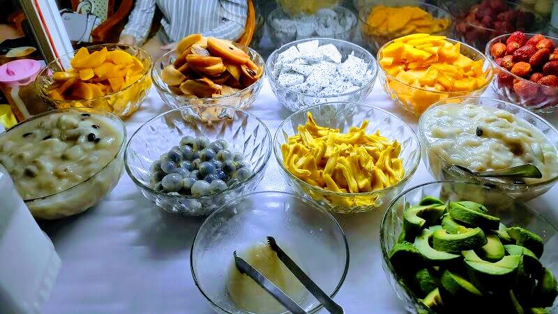 色鮮やかなフルーツ