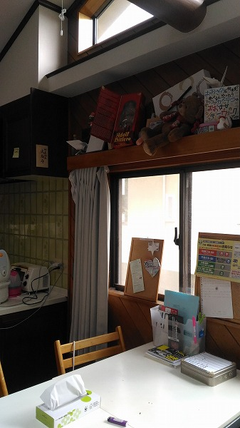 東京のシェアハウスのリビング