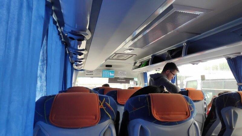 タシケントからサマルカンドへのバス